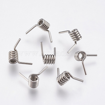 304 Stainless Steel Barb Wire Findings, For Barb Wire Bracelet Making, Stainless Steel Color, 3.5x3mm(STAS-P196-24)