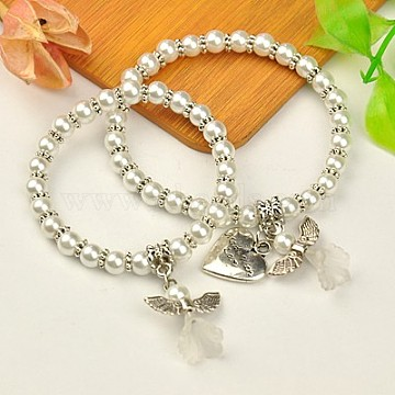 White Glass Bracelets