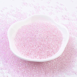 MGB&reg Matsuno Glass Beads, Japanese Seed Beads, 12/0 Transparent Rainbow Glass Round Hole Seed Beads, PearlPink, 2x1.5mm, Hole: 0.8mm; about 1760pcs/20g(X-SEED-Q033-1.9mm-27R)