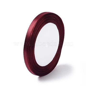 Garment Accessories 1/4 inch(6mm) Satin Ribbon, Dark Red, 25yards/roll(22.86m/roll)(X-RC6mmY048)