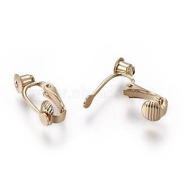 Brass Clip-on Earring Converters Findings(KK-L176-12G)-2