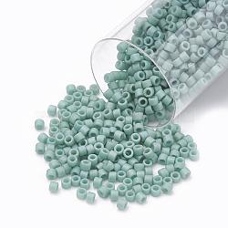 Miyuki® delica beads, perles de rocaille japonais, 11 / 0, (db 0374) lustre en mousse de mer opaque mat, 1x1.5 mm, trou: 0.5 mm; sur 2000 pcs / bouteille(SEED-S015-DB-0374)