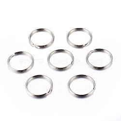 fer divisé porte-clés, conclusions de fermoir porte-clés, platine, 25x2 mm; diamètre intérieur: 22 mm(X-IFIN-C057-25mm)