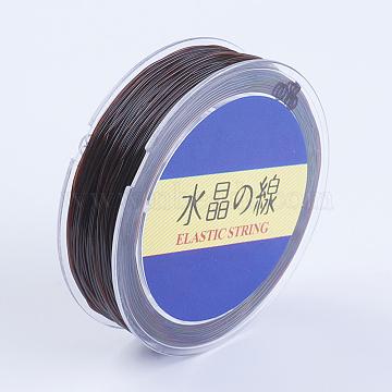 Japanese Round Elastic Crystal String, Elastic Beading Thread, for Stretch Bracelet Making, Saddle Brown, 1mm, 30yards/roll, 90 feet/roll(EW-G007-01-1mm)