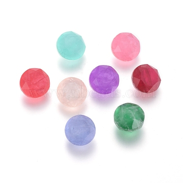 8mm Mixed Color Flat Round Glass Rhinestone Cabochons