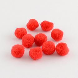 Perles rondes pompon de laine, rouge, 30mm(X-AJEW-S006-3mm-12)