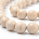 Natural Fossil Beads Strands(X-G-Q462-123-6mm)-3