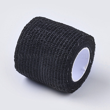 Multifunctional Non Woven Fabric Bandage, Self-adhesive Sport Elastic Bandage, Adhesive Bandage, Black, 50mm; about 4.5m/roll(AJEW-WH0088-03)