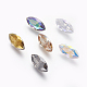 Electroplated Cubic Zirconia Pointed Back Cabochons(ZIRC-I024-06)-1