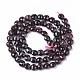 Natural Garnet Beads Strands(G-S362-020)-2