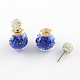 Double Sided Glass Ball Stud Earrings(EJEW-Q683-M)-2