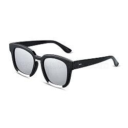 мода стиль звезды лета женщин солнцезащитные очки, черные пластиковые рамы и ПК пространства линзы, белый ртуть, 4.4x14.5 cm(SG-BB14395-4)