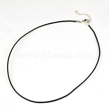 3mm Black Leather Necklace Making