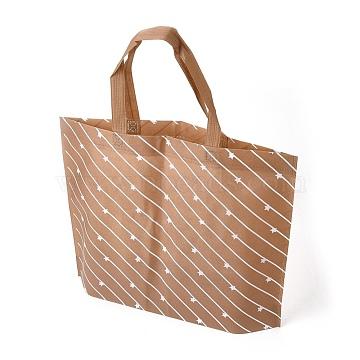 Eco-Friendly Reusable Bags, Non Woven Fabric Shopping Bags, SandyBrown, 45x10cm(ABAG-L004-U01)