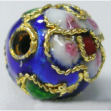 Colorful Round Brass Beads