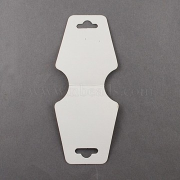 White Necklace Jewellery Displays Cards, 124x47.5mm(X-NDIS-ZX002)