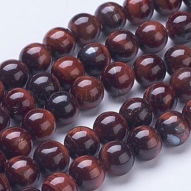 10mm Brown Round Tiger Eye Beads