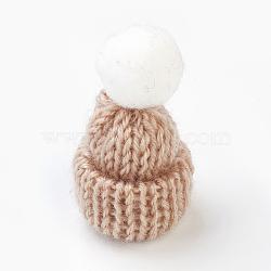 Décoration de chapeau en laine tressé manuel, diy artisanat décoration, blé, 33~38x45~50mm(AJEW-L066-B13)
