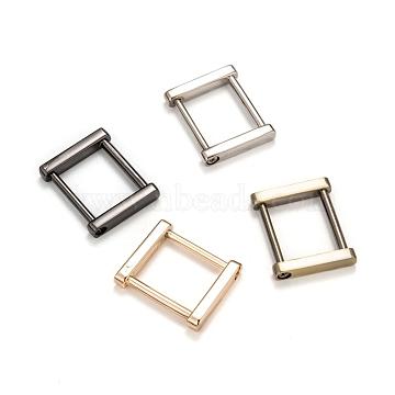 SUPERDANT Iron Purse Clasps, Handbag Connectors, Bag Chain Buckle, with Alloy Findings, Antique Bronze & Gunmetal & Light Gold & Platinum, 35x29.5x6mm; Inner Diameter: 25x20mm; 2pcs/color, 8pcs/box(IFIN-SD0001-01)