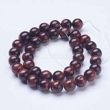 Natural Red Tiger Eye Beads Strands(G-D855-04-10mm)-2