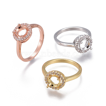 Mixed Color Clear Brass Ring Components