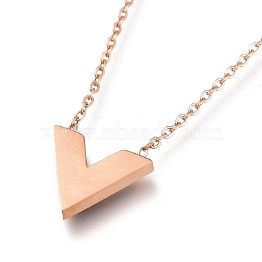 304 Stainless Steel Initial Pendant Necklaces(NJEW-I240-10)-4