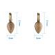 Leaf Shape Tibetan Style Glue-on Flat Pad Bails Lead Free Pendants Size 21x8x6mm for Craft(PALLOY-PH0005-01M)-2