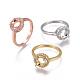 Environmental Brass Finger Ring Components(MAK-F030-12-NR)-1