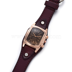 наручные часы высокого качества, кварцевые часы, Головка из сплава и ремешок из искусственной кожи, coconutbrown, 9-1 / 2 / 9-7 8 см); (24.1~25.1 мм; головка часов: 19~20x3 мм(WACH-I017-10A)