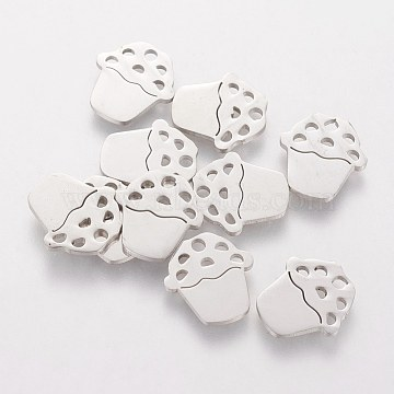 Stainless Steel Color Food Stainless Steel Charms