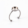 Stainless Steel Color 304 Stainless Steel Ring Components(X-STAS-S080-042C-P)