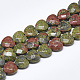 Natural Unakite Beads Strands(G-S357-E01-04)-1