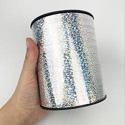rubans de ballons laser à face unique pour la décoration de fête, argent, 3 / 16 (5 mm); à propos de 500 yards / rouleau (457.2 m / roll)(SRIB-WH0003-E06)