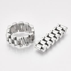 Anneaux en acier inoxydable pour hommes 304, anneaux de chaîne de panthère, couleur inoxydable, taille 9, 19mm(STAS-S079-101B-02)