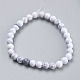 Natural Howlite Beads Strands(TURQ-G091-6mm)-2