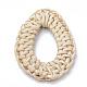 Handmade Reed Cane/Rattan Woven Linking Rings(X-WOVE-Q075-18)-2