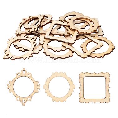 48mm AntiqueWhite Daily Supplies Wood Pendants
