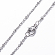 304 Stainless Steel Cable Chain Necklaces(NJEW-F201-01P)-3