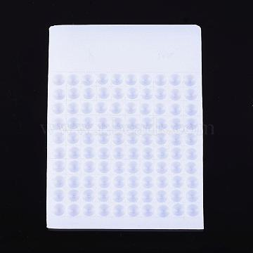 Plastic Bead Counter Boards, White, 8mm, 9.5x13x0.6cm(TOOL-G003)