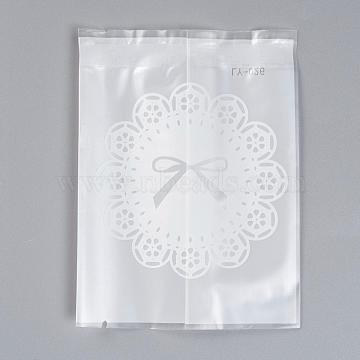 Frosted Cookie Candy Bread Packaging Bags, White, 11.5x9cm; Unilateral Thickness: 0.045mm; about 45~50pcs/bag(PE-L003-09)