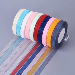 """Ruban organza pure, matériel de bricolage pour ruban eetreat, couleur mixte, 1/2"""" (12 mm), 500yards (457.2m)(ORIB-RS12mmY)"""