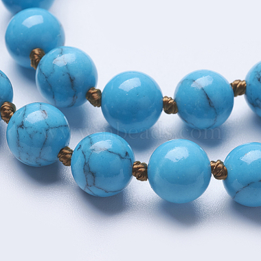 Synthetic Turquoise Beaded Necklaces(NJEW-P202-60-A13)-2