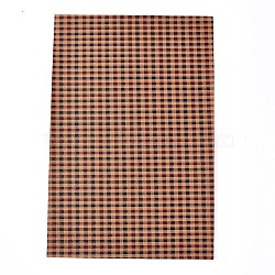 Imitation Leather Fabric Sheets, for Garment Accessories, Tartan Pattern, Colorful, 30x20x0.05cm(DIY-D025-E01)