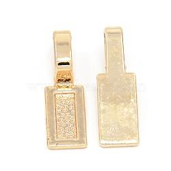 Balles plates à coller en alliage d'or sans nickel et sans plomb, plaqué longue durée, rectangle, 26x8x7 mm, trou: 5x8 mm(PALLOY-J218-100G)
