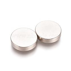 aimants ronds pour réfrigérateur, aimants de bureau, aimants pour tableau blanc, mini aimants durables, 10x2.5 mm(AJEW-D044-03B-10mm)