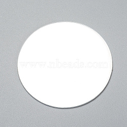 Flat Round Shape Mirror, for Folding Compact Mirror Cover Molds, Clear, 56x1mm(DIY-WH0170-51)