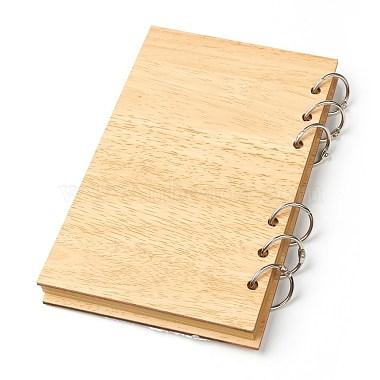 bloc-notes de livres d'or de mariage en bois(AJEW-H114-03)-2