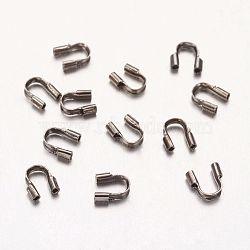 Termintors en laiton, Fil tuteur, sans nickel, couleur noire, 5x4x1mm(KK-A052-B-1)