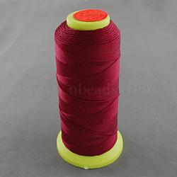 Fil à coudre de nylon, firebrick, 0.8mm, environ 300 m / bibone (NWIR-Q005-42)