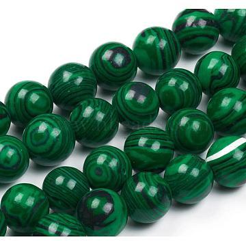 14mm Round Malachite Beads